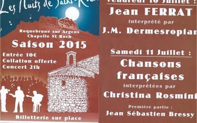 LES NUITS DE SAINT ROCH à Roquebrune sur Argens