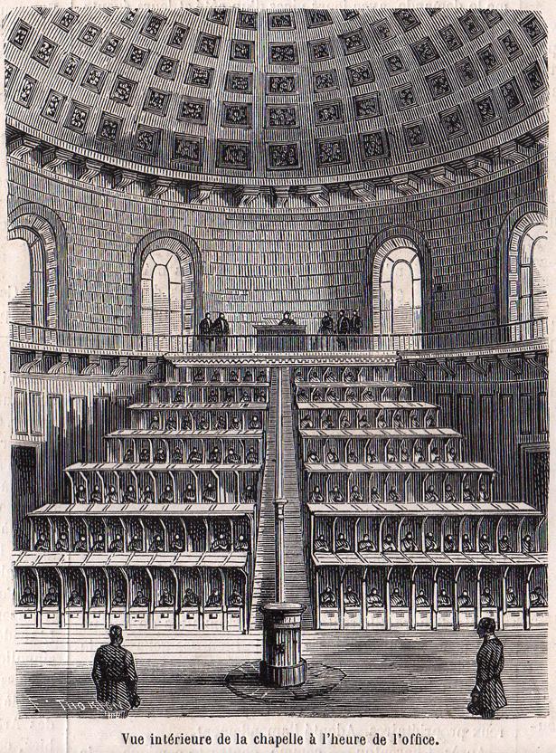 Chapelle cellulaire La Roquette 1865